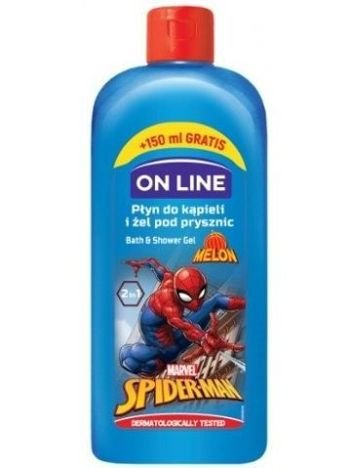 On Line Kids Disney Płyn do kąpieli i żel pod prysznic 2 w 1 Spider Man  400 ml