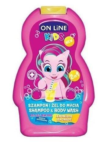 On Line Kids Szampon i żel do mycia ciała 2 w 1 Lemoniada  250 ml