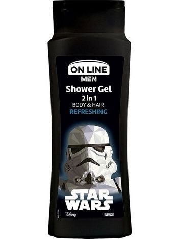 On Line Men Żel pod prysznic 2w1 Star Wars Refreshing  400 ml