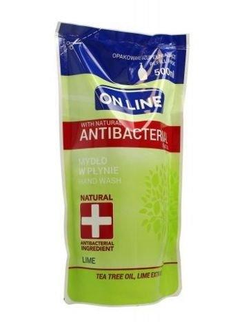 On Line Mydło w płynie Antybakteryjne Lime - uzupełnienie  500 ml