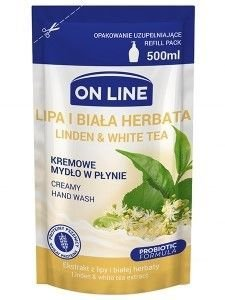 On Line Mydło w płynie kremowe Lipa i Biała Herbata - uzupełnienie  500 ml