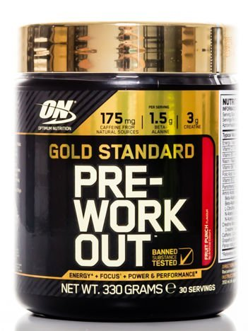 Optimum Nutrition Przedtreningówka - Gold Standard  Pre Workout - 330g Fruit Punch