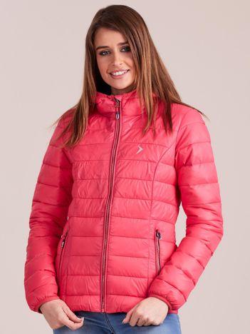 Outhorn Ciemnoróżowa pikowana kurtka zimowa