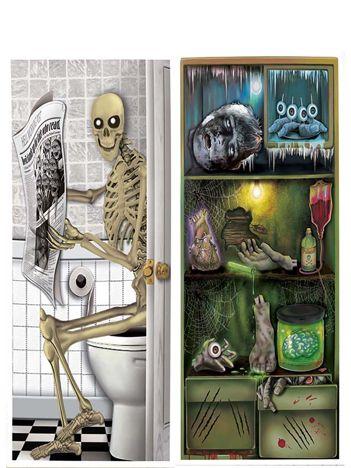 Ozdobny plakat Halloween na drzwi