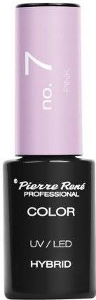 PIERRE RENE Color LED UV Hybrid/ Lakier hybrydowy 007 PINK 6 ml