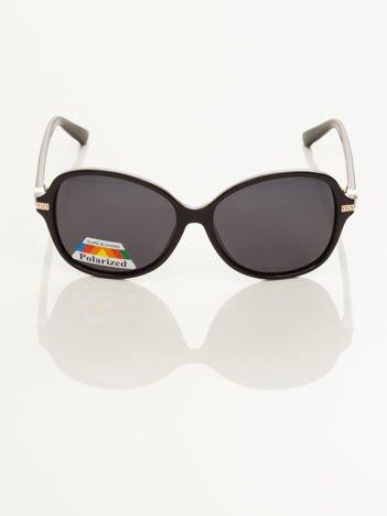 """POLARYZACJA czarne eleganckie okulary przeciwsłoneczne """"MUCHY""""+GRATISY ( etui ,ściereczka)"""