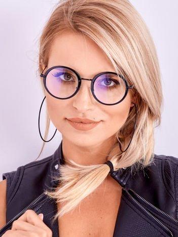 PREMIUM Czarne Okulary Zerówki Z Powłoką Antyrefleksyjną