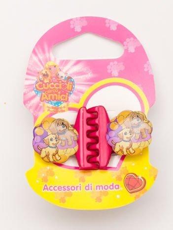 PRZYJACIELE Z KIESZONKOWA Zestaw 2 szt. różowych klamerek do włosów dla dziewczynki