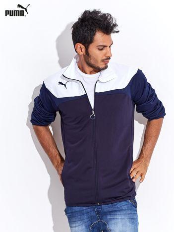PUMA Biało-granatowa rozpinana bluza męska sportowa