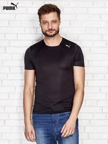 PUMA Czarny t-shirt męski z przeszyciami