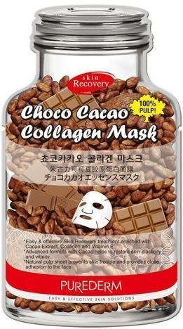 PUREDERM czekoladowo-kolagenowa maska na twarz 1 szt.