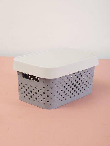 Pastelowe jasnoszare pudełko do przechowywania z pokrywką