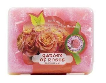 Peelingujące mydło-gąbka Różany Ogród