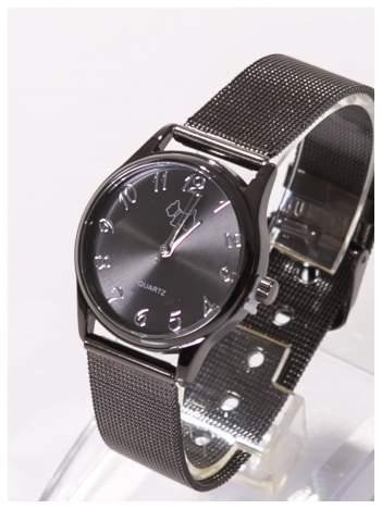 Piękny damski zegarek z PIESKIEM na bransolecie typu Mesh