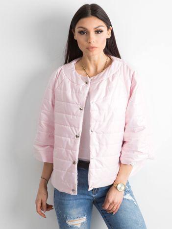 Pikowana kurtka damska różowa