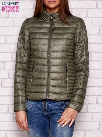 Pikowana kurtka przejściowa khaki