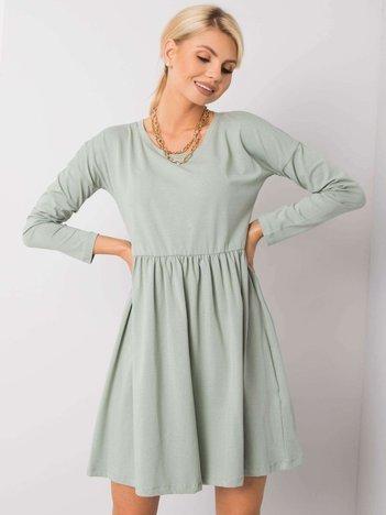 Pistacjowa sukienka Vega RUE PARIS
