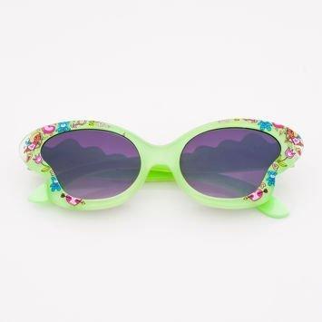 Pistacjowe Dziecięce Okulary przeciwsłoneczne MOTYL