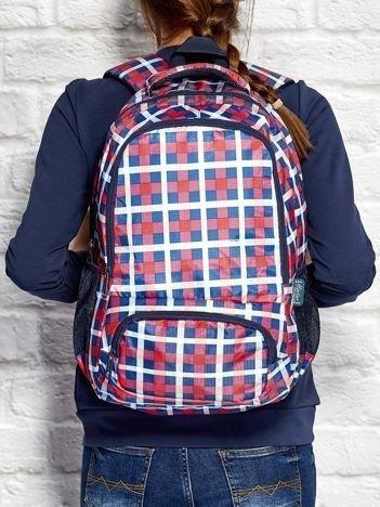 Plecak szkolny z motywem kolorowej kratki