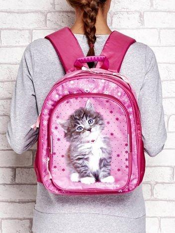 Plecak szkolony dla dziewczynki z kotem