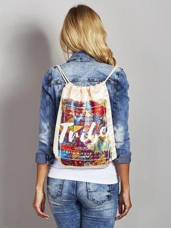 Plecak worek w stylu boho