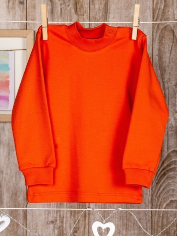 Pomarańczowa bawełniana, klasyczna bluzeczka niemowlęca dla chłopca i dziewczynki