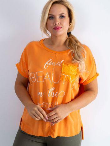 Pomarańczowa bluzka Delicious PLUS SIZE