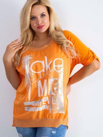 Pomarańczowa bluzka Presence PLUS SIZE