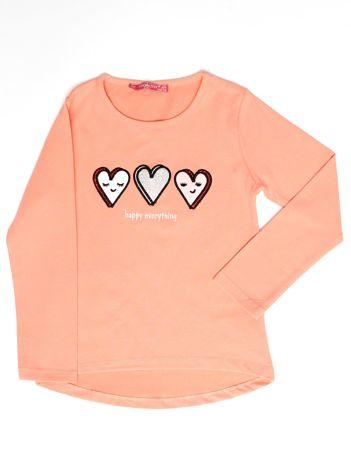Pomarańczowa bluzka z serduszkami