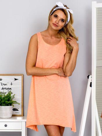 Pomarańczowa luźna sukienka