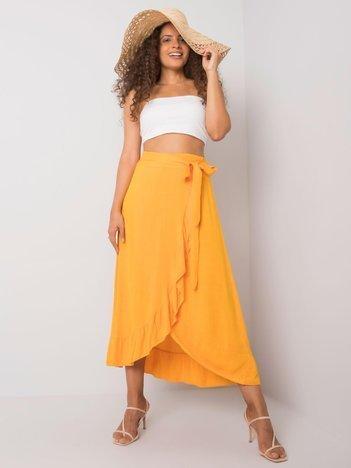 Pomarańczowa spódnica z wiązaniem Jettie OCH BELLA