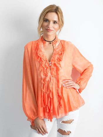 Pomarańczowa zwiewna bluzka