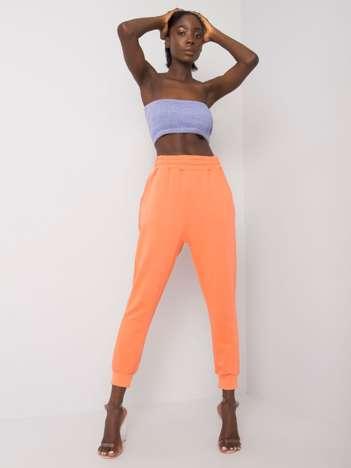 Pomarańczowe spodnie dresowe z bawełny Clancy