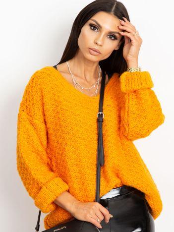 Pomarańczowy sweter Lively