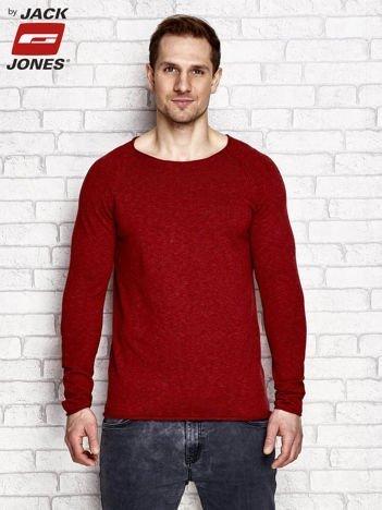 Pomarańczowy sweter męski basic