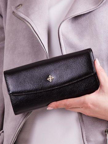 Poziomy portfel damski czarny