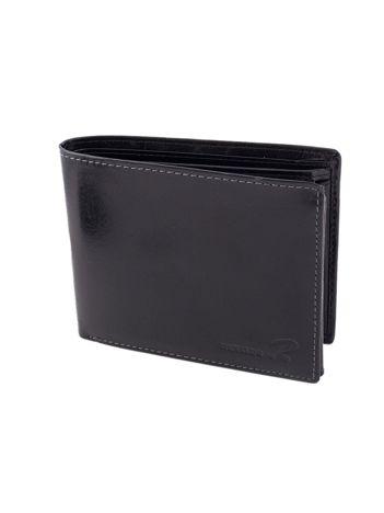 Poziomy portfel męski bez zapięcia czarny