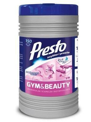Presto Nawilżane Ściereczki czyszczące 2w1 Gym & Beauty  1op - 150szt  (puszka)