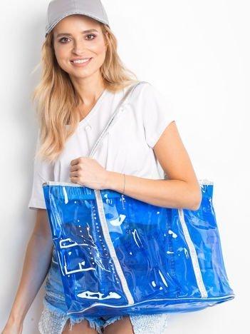 Przezroczysta niebieska torba