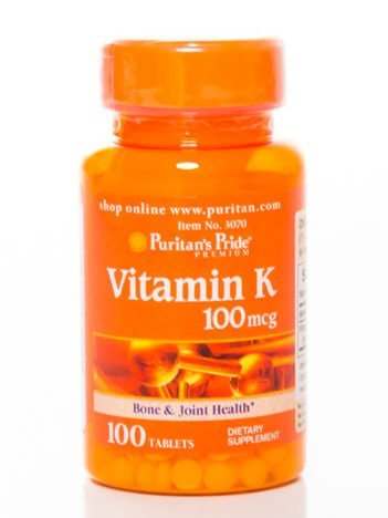 Puritan's Pride - Witamina K 100 mcg - 100 tabletek
