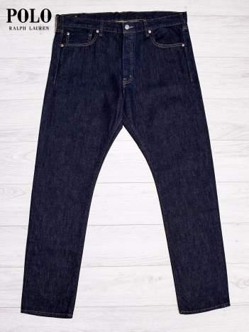 RALPH LAUREN Ciemnoniebieskie spodnie jeansowe męskie