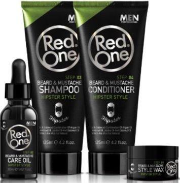 REDONE Zestaw do pielęgnacji brody (szampon, odżywka, olejek + wosk)