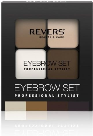 REVERS Cienie do brwi EYE BROW SET PROFESSIONAL STYLIST nr 04 18g