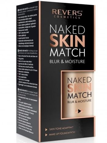 REVERS Fluid NAKED SKIN MATCH NR 02 NUDE BEIGE, 30 ml