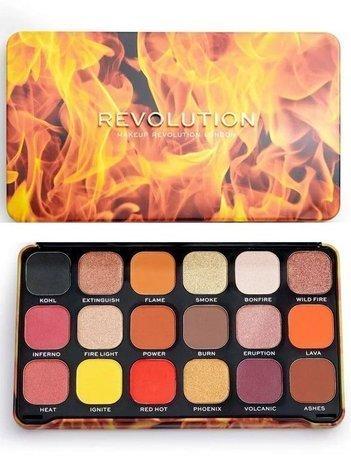REVOLUTION Paleta cieni Forever Flawless FIRE 18 x 1,1 g