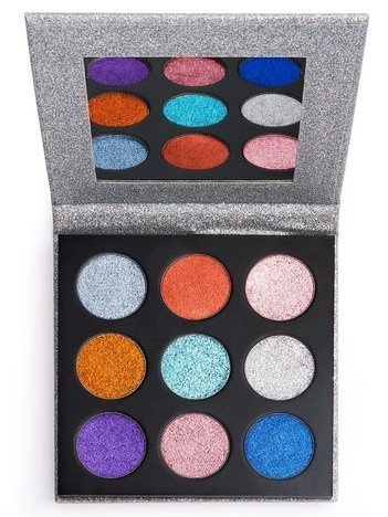 REVOLUTION Pressed Glitter Palette Paleta Prasowanych Brokatów Illusion