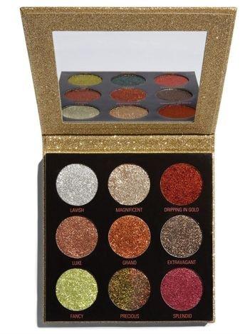 REVOLUTION Pressed Glitter Palette Paleta Prasowanych Brokatów Midas Touch