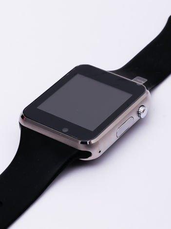 RONEBERG Smartwatch RA1S Współpracuje z Android oraz iOS Powiadomienia Połączenia Krokomierz Monitor snu czarno-srebrny