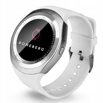 RONEBERG Smartwatch RY1 Funkcje sportowe Kontrola stanu zdrowia Pulsometr Ciśnieniomierz Oksymetr Powiadomienia Długi czas działania Biały