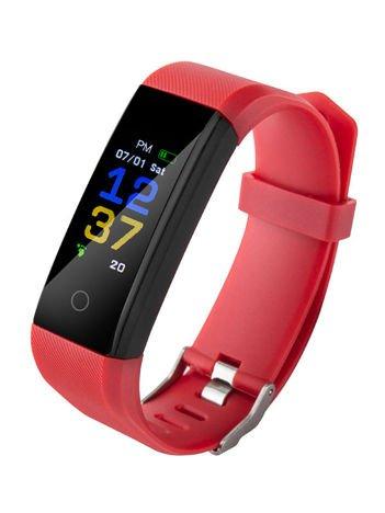 RONEBERG Smartwatch Smartband R115 Pulsometr Ciśnieniomierz Oksymetr Powiadomienia Długi czas działania Wodoodporny IP 67 Czerwony